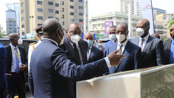 Equity BCDC inaugurée par le président kényan Uhuru Kenyatta lors de son séjour à Kinshasa (CongoForum)