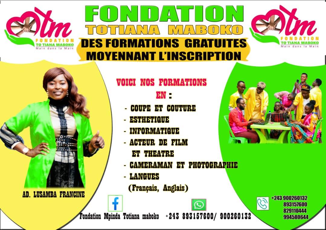 Société : Totiana Maboko, une fondation chrétienne avec mission de former les jeunes gratuitement à Kinshasa (Congoforum)