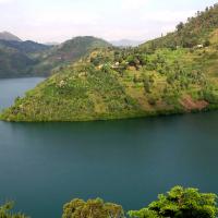 Zicht op Lac Kivu
